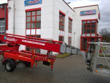 Anhänger-Arbeitsbühne mit einer Arbeithöhe 25 Meter mieten. Seitl. Reichweite 11 Meter, max. Tragkraft 200kg