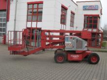 Arbeitsbühne mit kombiniertem Diesel- + Elektro-Antrieb ✅15,50 m Arbeitshöhe ✅Für Hallen und Gelände ✅Jetzt reservieren ☎ 0221 - 888 110 200