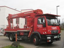 ✅Arbeitshöhe 22 m ✅Tragkraft max. 265 kg ✅Für enge Zufahrtswege ✅Extrem schmale Stützung ✅Jetzt reservieren ☎ 0221 - 888 110 200