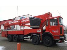 LKW-Arbeitsbühne / Hubsteiger mit einer Arbeithöhe 45 Meter mieten.